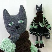 Куклы и игрушки ручной работы. Ярмарка Мастеров - ручная работа Теплая Кошка. Handmade.