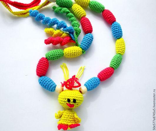 """Слингобусы ручной работы. Ярмарка Мастеров - ручная работа. Купить Слингобусы с игрушкой  """" Кря-кря"""". Handmade. Разноцветный, желтый"""