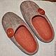 Обувь ручной работы. Валяные женские тапочки. Алина Негреева. Ярмарка Мастеров. Войлок, ручная работа handmade
