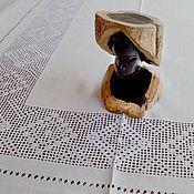Для дома и интерьера ручной работы. Ярмарка Мастеров - ручная работа Праздничная большая скатерть 8 кубанцов, лен, вышивка. Handmade.