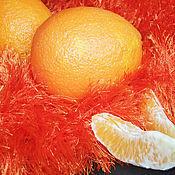 Для дома и интерьера ручной работы. Ярмарка Мастеров - ручная работа МОХНАТЫЙ АПЕЛЬСИН оранжевый плед покрывало. Handmade.