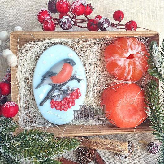 Мыло ручной работы. Ярмарка Мастеров - ручная работа. Купить новогодние подарочные наборы мыла ручной работы. Handmade. Голубой