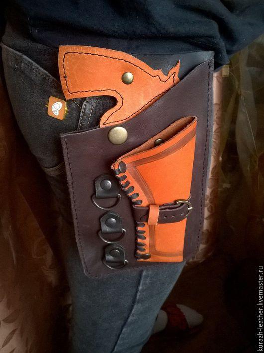 Одиночный карман-кобура с объёмным дулом пистолета