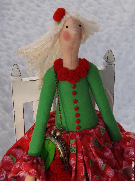 Куклы Тильды ручной работы. Ярмарка Мастеров - ручная работа. Купить Кукла-Тильда Малиновая Фея. Handmade. Кукла Тильда