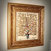 """Для дома и интерьера ручной работы. Ярмарка Мастеров - ручная работа Часы """"Древо жизни"""". Handmade."""