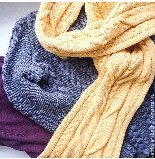 Кофты и свитера ручной работы. Ярмарка Мастеров - ручная работа. Купить Косы. Handmade. Темно-серый, серый, пуловер