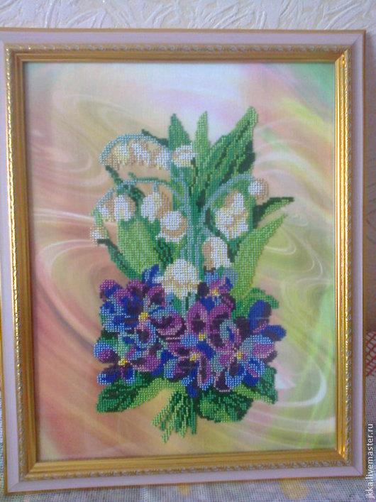 Картины цветов ручной работы. Ярмарка Мастеров - ручная работа. Купить Картина ручной работы Весенний салют. Handmade. Цветы