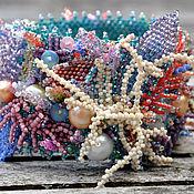 Украшения ручной работы. Ярмарка Мастеров - ручная работа Широкий браслет Коралловый риф. Handmade.