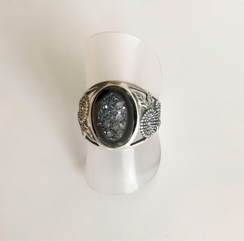 Кольцо  чёрный Агат. Стерлинговое серебро.Унисекс – купить на Ярмарке Мастеров – GFVA9RU | Кольца, Цюрих