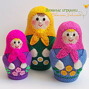 """Куклы и игрушки ручной работы. Ярмарка Мастеров - ручная работа """"МАТРЕШКИ"""" вязаные игрушки. Handmade."""