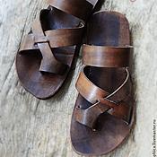 """Обувь ручной работы. Ярмарка Мастеров - ручная работа Кожаные сандалии """"Gladiator"""". Handmade."""