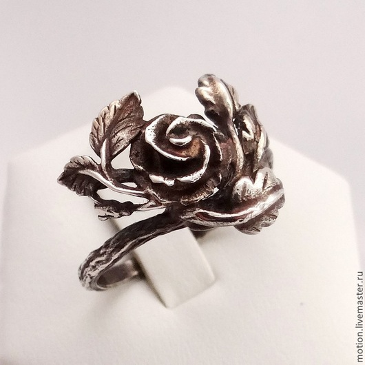 Кольца ручной работы. Ярмарка Мастеров - ручная работа. Купить Колечко Роза, сделанный из серебра 925 пробы. Handmade. Серебряный