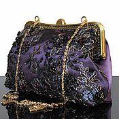 """Сумки и аксессуары ручной работы. Ярмарка Мастеров - ручная работа """"Serie Noire"""" вечерняя сумочка, клатч, сумочка на цепочке, фиолетовый. Handmade."""