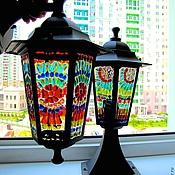 фьюзинг, светильник-фонарик  Цветочный луг