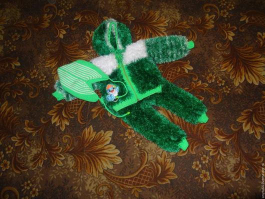 """Для новорожденных, ручной работы. Ярмарка Мастеров - ручная работа. Купить костюмчик из """"Травки"""". Handmade. Ярко-зелёный, костюмчик"""