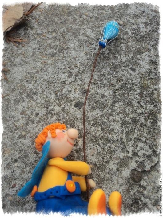 """Статуэтки ручной работы. Ярмарка Мастеров - ручная работа. Купить Фигурка """"Фей заветной мечты"""". Handmade. Синий, мечта, пуговица"""