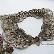 Аксессуары handmade. Livemaster - original item Collars: Irish Lace Collar Dried Flowers. Handmade.