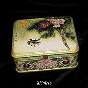 Для дома и интерьера handmade. Livemaster - original item Box in Chinese style Peony-2. Handmade.