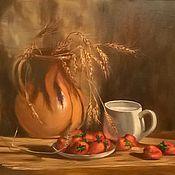"""Картины и панно ручной работы. Ярмарка Мастеров - ручная работа Картина """"Деревенский завтрак"""". Handmade."""