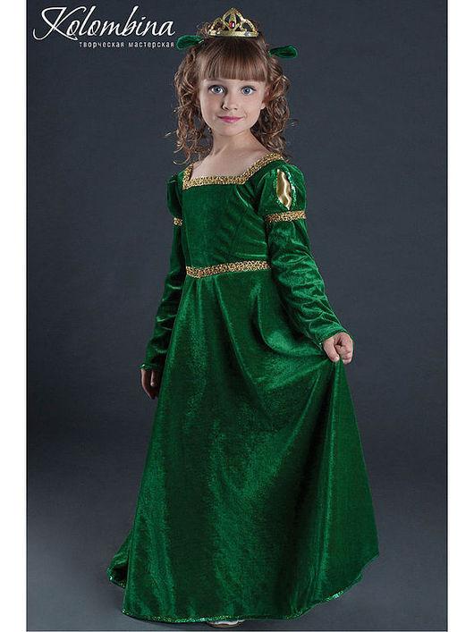 Детские карнавальные костюмы ручной работы. Ярмарка Мастеров - ручная работа. Купить Костюм принцессы Фионы. Handmade. Тёмно-зелёный