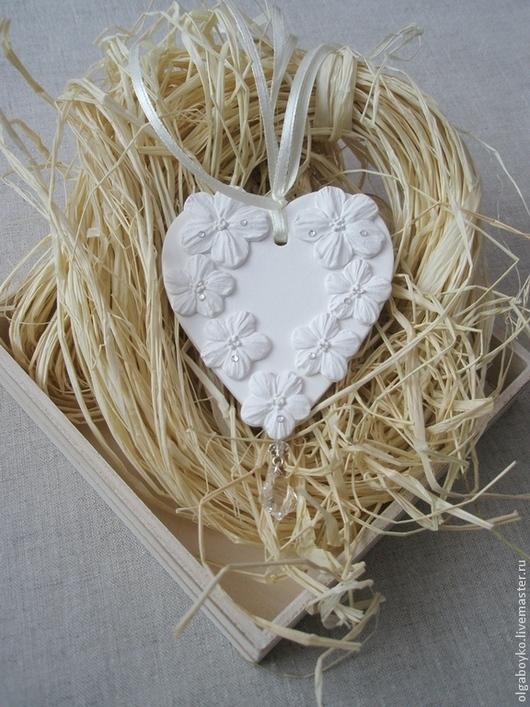 """Подвески ручной работы. Ярмарка Мастеров - ручная работа. Купить Декоративная подвеска """"Сердце"""". Handmade. Белый, подарок девушке"""