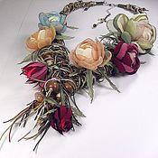 Украшения handmade. Livemaster - original item Solar Ivy. Jewelry set. Long necklaces, 5 brooches.. Handmade.