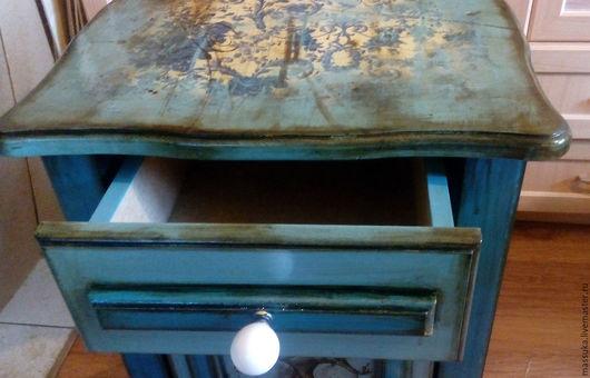 """Мебель ручной работы. Ярмарка Мастеров - ручная работа. Купить Тумба подстольная"""" Маркиз """". Handmade. Тёмно-бирюзовый, тумбочка"""