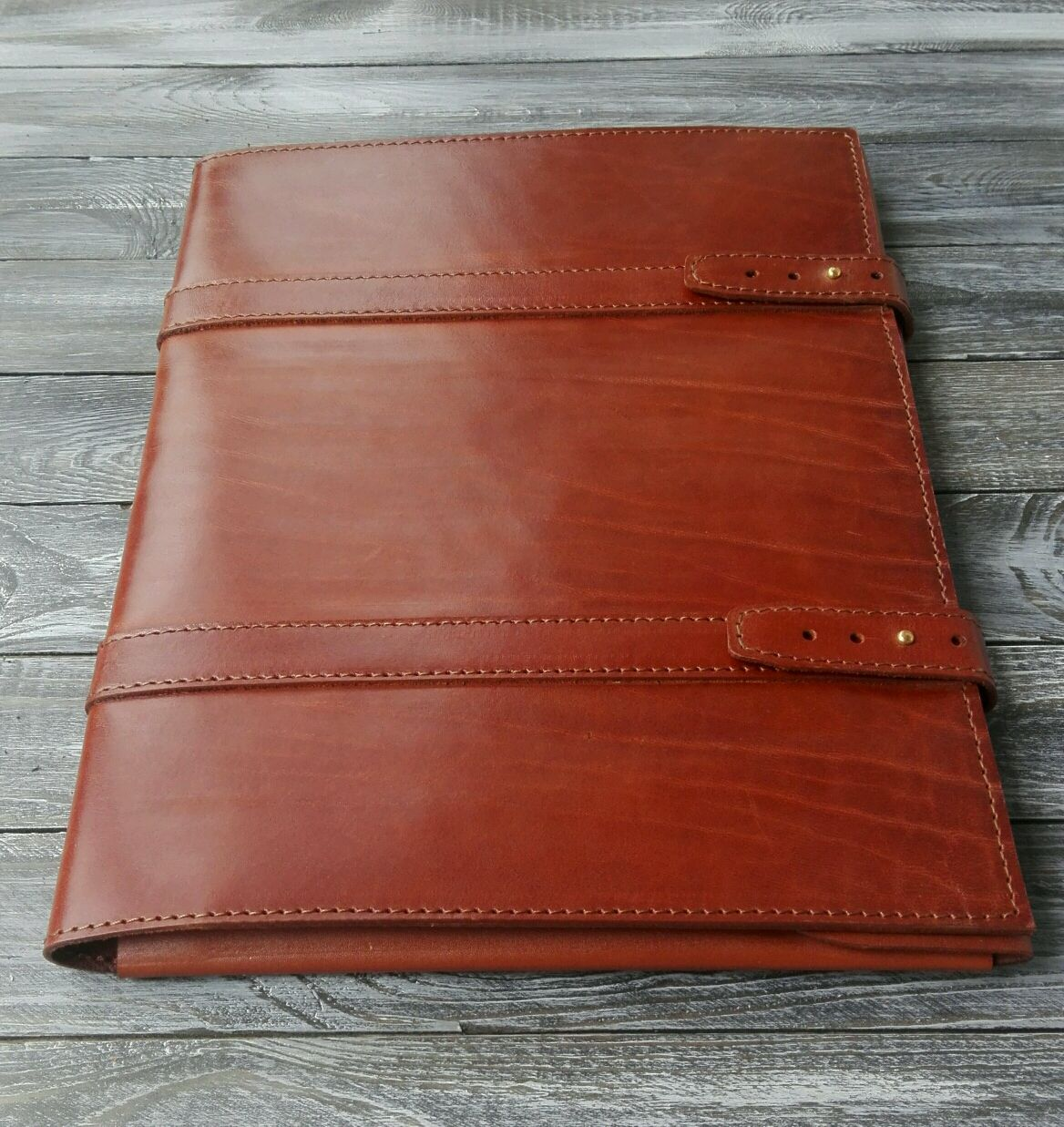 Folder for documents made of genuine leather, Folder, ,  Фото №1
