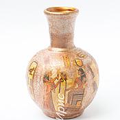 Для дома и интерьера handmade. Livemaster - original item Nefertiti decoupage vase. Vase decoupage. Ceramic vase. Egypt.. Handmade.