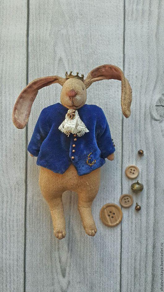 Игрушки животные, ручной работы. Ярмарка Мастеров - ручная работа. Купить Чердачный кролик Принц Эд. Handmade. Чердачная игрушка