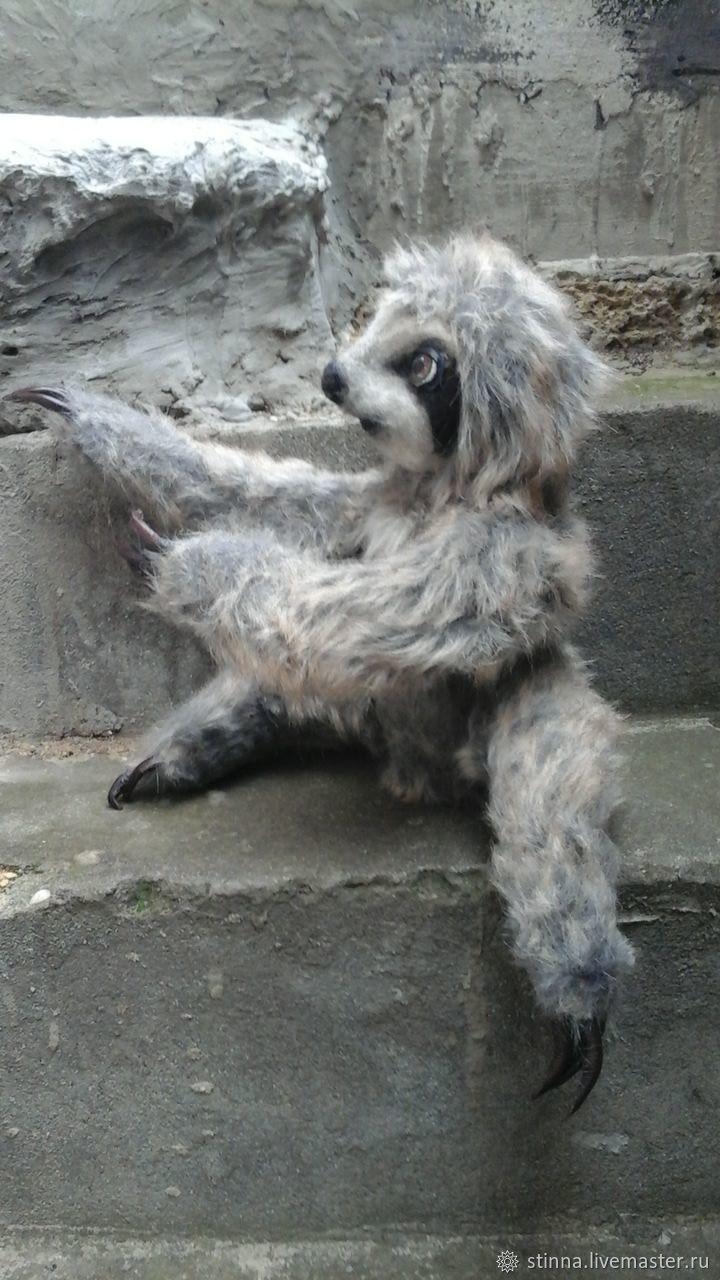 felt toy: Sloth Lou, Felted Toy, Chernomorskoe,  Фото №1