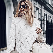 Одежда handmade. Livemaster - original item Sweater collar white elegant. Handmade.