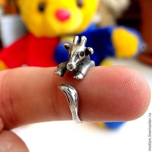 Кольца ручной работы. Ярмарка Мастеров - ручная работа. Купить Серебряное Кольцо Жираф, ручная работа из серии животные. Handmade.