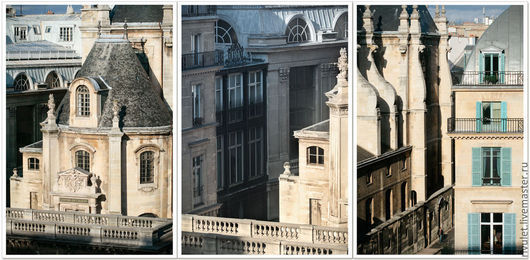 Набор постеров на стену «Высокие параллели Риволи. Триптих» фотокартины для интерьера, Париж, Франция  © Ануфриева Елена.