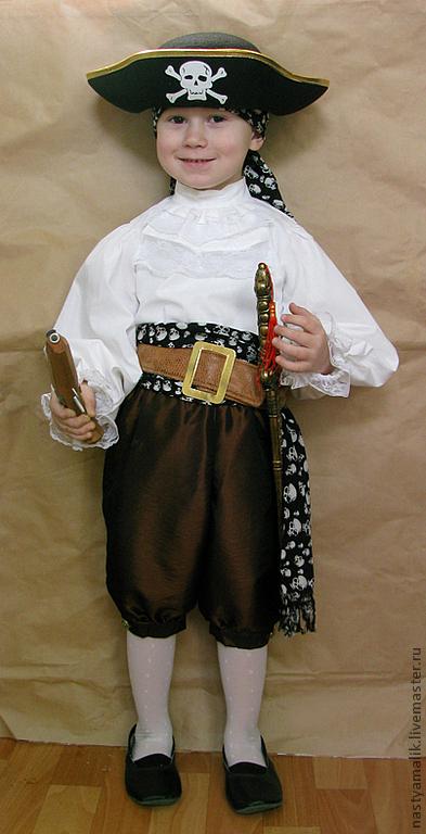 Карнавальные костюмы ручной работы. Ярмарка Мастеров - ручная работа. Купить Костюм пирата. Handmade. Пират, полиэстер