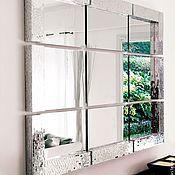 Для дома и интерьера handmade. Livemaster - original item Mirror in mosaic frame is divided into segments. Handmade.