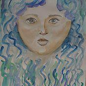 Картины и панно ручной работы. Ярмарка Мастеров - ручная работа Дочь Воды. Интуиция. Handmade.