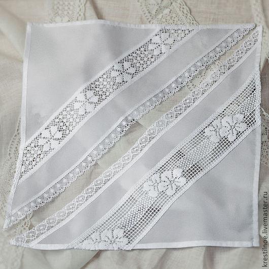 Шапки и шарфы ручной работы. Ярмарка Мастеров - ручная работа. Купить Косынка нарядная хлопковая (или льняная). Handmade.