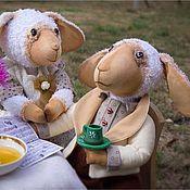 Куклы и игрушки ручной работы. Ярмарка Мастеров - ручная работа Чаепитие. Текстильные овечки.. Handmade.