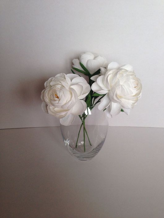 Искусственные растения ручной работы. Ярмарка Мастеров - ручная работа. Купить Букет из белых пионов. Handmade. Бумажные цветы
