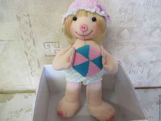 Человечки ручной работы. Ярмарка Мастеров - ручная работа. Купить Развивающая куколка малышок. Handmade. Кукла малышок, игрушка развивающая