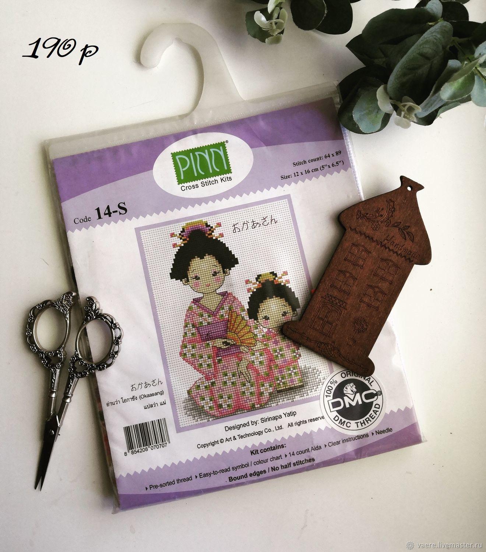 Набор для вышивания pinn 14 s Японки, Схемы для вышивки, Тула,  Фото №1