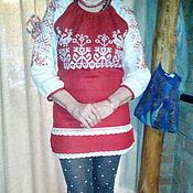 Русский стиль ручной работы. Ярмарка Мастеров - ручная работа туника с вышивкой обережная. Handmade.