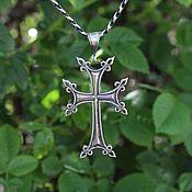 handmade. Livemaster - original item Men`s cross made of 925 sterling silver HH0083. Handmade.