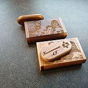 Сувениры и подарки handmade. Livemaster - original item Wooden flash drive with engraving in a box, any design. Handmade.