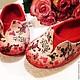 Обувь ручной работы. Ярмарка Мастеров - ручная работа. Купить Тапочки валяные Любовь. Handmade. Ярко-красный, тапочки из войлока