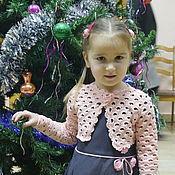 """Работы для детей, ручной работы. Ярмарка Мастеров - ручная работа Болеро детское """"Чайная розочка"""". Handmade."""