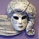"""Интерьерные  маски ручной работы. Интерьерная венецианская маска """"La Perla"""". Елена. Ярмарка Мастеров. Декор для интерьера, папье маше"""