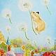 """Фантазийные сюжеты ручной работы. Ярмарка Мастеров - ручная работа. Купить """"Полёт"""". Картина маслом. Картина в детскую. Handmade. Картина"""