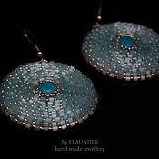 Украшения ручной работы. Ярмарка Мастеров - ручная работа Серьги от FLAUNDER «Голубое озеро» или Blue Lake с натуральной бирюзой. Handmade.